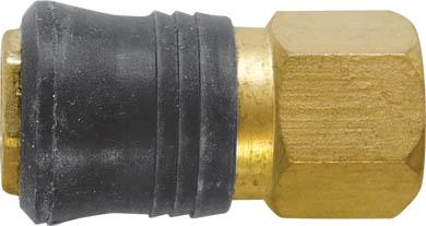 Адаптер быстросъемный FIT, М13 81153106-026Адаптер быстросъемный с запорным клапаном FIT универсального типа предназначен для соединения с пневматической линией, инструментом, компрессором. Совместим с ниппелями всех типов. Характеристики: Материал: латунь, пластик. Внутренняя резьба: М13. Шаг резьбы: 1,5 мм Под ключ: S = 20 Размер: 2,5 см х 2,5 см х 5 см. Размер упаковки: 7 см х 2,5 см х 12 см