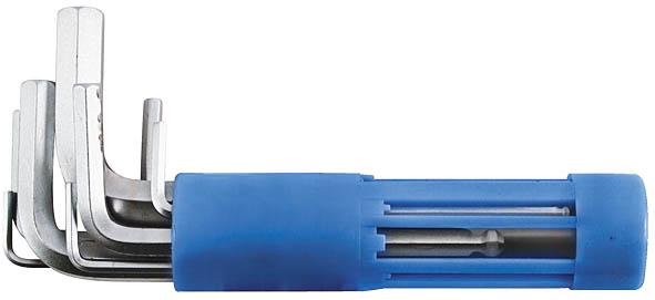 Набор шестигранных ключей FIT, 8 шт. 641922706 (ПО)Набор FIT состоит из восьми шестигранных ключей различного размера. Каждый предмет изготовлен из термообработанной хром-ванадиевой стали, что обеспечивает долгий срок службы набора. Для удобства хранения ключей предусмотрен пластиковый держатель.Размеры ключей: H2 (51 мм); H2.5 (56,5 мм); H3 (64 мм); H4 (72 мм); H5 (83 мм); H6 (94 мм); H8 (105 мм); H10 (119 мм).Размер футляра: 10 см x 2,5 см x 2,5 см.