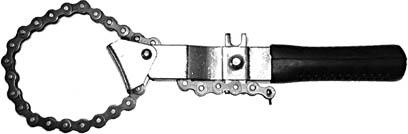 Съемник масляного фильтра FIT, цепной2706 (ПО)Цепной съемник масляного фильтра FIT предназначен для демонтажа масляного фильтра. Основная область применения - автомастерские. Цепной механизм позволяет подгонять под определенный размер фильтра. Характеристики:Материал: инструментальная сталь, пластик.Размеры съемника: 20 см x 4 см x 2 см.Размер упаковки: 21 см х 7 см х 3 см.