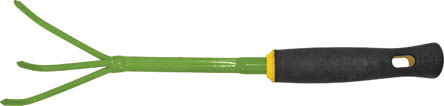 Рыхлитель мини FIT, 400 мм. 77022111340Рыхлитель FIT обладает прочной стальной конструкцией, для продолжительной работы. Удобная мягкая прорезиненная рукоятка обеспечивает комфорт во время проведения работ. Инструмент служит для прополки и рыхления земли вокруг насаждений. Характеристики: Материал: сталь, пластик, резина. Размеры рыхлителя: 40 см x 6,5 см x 6 см. Размер упаковки: 40 см x 6,5 см x 6 см.