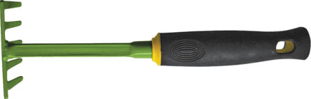 Грабли FIT мини, 290 мм. 77025787502Грабли FIT мини идеально подходят для работы на садовом участке. Инструмент выполнен из высокопрочной углеродистой стали с напылением из ПВХ, а рукоятка прорезинена для комфорта при работе. Грабли имеют небольшие габариты, что позволяет работать в труднодоступных местах, например между растениями или под кустами. Характеристики: Материал: сталь, резина. Размеры граблей: 29 см x 9 см x 7 см. Размер упаковки: 29 см x 9 см x 7 см.