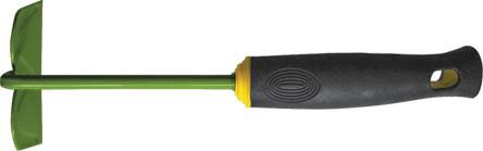 Тяпка мини FIT, 290 мм. 77026APS-4L-01Тяпка мини FIT применяется для обработки почвы на грядке. Тяпка не занимает много места благодаря оптимальному размеру. Лезвие выполнено из углеродистой стали с напылением из ПВХ. Рукоять прорезинена, что исключает скольжение и снижает утомляемость оператора. Характеристики: Материал: сталь, ПВХ, резина. Размеры тяпки: 29 см x 10 см x 8 см. Размер упаковки: 29 см х 10 см х 8 см.
