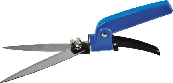 Ножницы для травы FIT, цвет: черный, синий, 330 ммC0042416Ножницы для травы FIT предназначены для подравнивания травы на клумбах. Поворотный механизм лезвия обеспечивает качественную работу, даже в труднодоступных местах. Прочный материал, из которого изготовлен данный инструмент, обеспечивает продолжительный срок эксплуатации. Характеристики: Материал: сталь, пластик. Размеры ножниц: 33 см х 6 см х 2,5 см. Размер упаковки: 38 см x 10 см x 3 см.