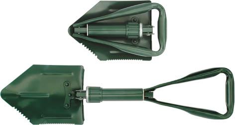 Лопата саперная складная FIT, цвет: зеленый, 570 мм