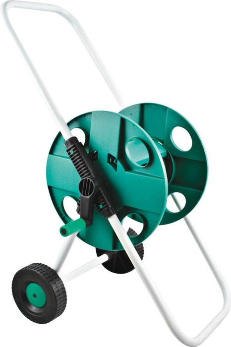 Катушка FIT для шланга 1/2, большая10503Простота в использовании, удобство в хранении и при транспортировке шлангов (до 45 м при диаметре 1/2 и до 30 м при диаметре 3/4). Шланг подсоединяется к корпусу катушки под углом, что позволяет избежать его перегибания и скручивания. Устойчивая конструкция с удобной рукояткой и колесами собираются без использования инструментов. Катушка имеет пластиковый корпус и металлический каркас. С помощью специальной ручки шланг легко наматывается, не загибаясь и не перекручиваясь. Благодаря колесам катушку со шлангом можно без труда перемещать на необходимые расстояния. Надежная и устойчивая конструкция обеспечивает долгий срок службы приспособления. Характеристики: Материал: каркас из стальных труб, пластиковый барабан. Размер упаковки: 32 см х 41 см х 9 см.