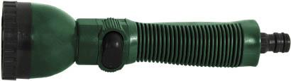 Насадка для полива FIT, 6 позиций. 7729577295Насадка для полива FIT пригодится на садово-огородном участке. Подключается к шлангу при помощи соединителя. Предоставляет возможность необходимой регулировки струи воды. Имеет 6 режимов распыления: прямая струя, прямое распыление, мягкий дождь, плоская струя, конусное распыление, водная пыль. Наконечник выполнен из высокопрочного ABS-пластика и имеет длительный срок эксплуатации. Эргономичная конструкция обеспечивает комфортную и приятную работу. Характеристики: Материал: ABS пластик, ПВХ. Размеры насадки: 22,5 см x 6 см x 6 см. Размер упаковки: 29,5 см x 12 см x 6,5 см.