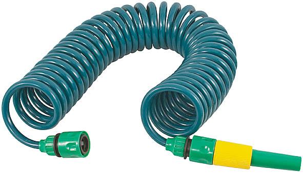 Шланг спиральный для полива FIT, с насадкой, 6 м. 773188006537Спиральный шланг FIT служит для направленного полива. Изготовлен из пластика, отличается прочностью и удобством эксплуатации. Максимальная длина, на которую растягивается шланг - 6 метров. Может применяться, в диапазоне температур от +5° до +50° С. Шланг совместим со всеми элементами поливочной системы производителя, и может комбинироваться с необходимыми устройствами и насадками по желанию пользователя. В комплекте идет одна насадка для полива. Характеристики: Материал: пластик. Внутренний диаметр: 8 мм. Внешний диаметр: 11 мм. Длина шланга: 6 м. Размер упаковки: 21 см х 24 см х 9 см.