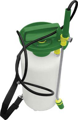 Опрыскиватель FIT, 5 л. 7733077330Опрыскиватель FIT предназначен как для опрыскивания помещений в целях профилактики от грызунов и насекомых, так и для обработки химикатами растений на садово-огородном участке. Обеспечит равномерное разбрызгивание жидкости. Для удобства во время работы опрыскиватель имеет наплечный ремень. Характеристики:Материал: пластик. Цвет: белый, зеленый. Объем: 5 л. Размеры опрыскивателя: 17 см x 17 см x 41 см. Размер упаковки: 18 см x 18 см x 42 см.