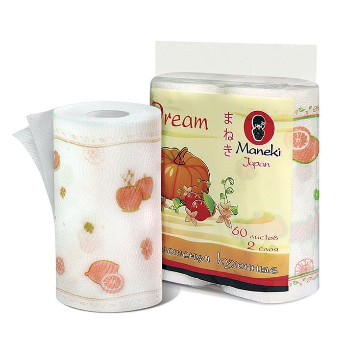 Полотенца кухонные бумажные Maneki Dream, двухслойные, цвет: белый, красный, 2 рулонаNN-604-LS-BUДвухслойные кухонные бумажные полотенца Maneki Dream, выполненные из натуральной экологически чистой целлюлозы, подарят превосходный комфорт и ощущение чистоты и свежести. Необычайно мягкие полотенца с микротиснением Maneki предназначены для рук, не вызывают раздражения. Характеристики:Материал: 100% целлюлоза. Количество листов: 60 шт. Количество слоев: 2. Размер листа: 22,8 см х 22,8 м. Артикул: KТ166.