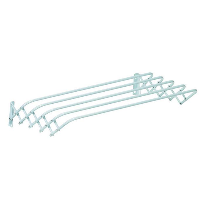 Сушилка для белья Brio 100 Super, настеннаяGC013/00Сушилка для белья Brio 100 Super - это удобная в использовании настенная сушилка. Она имеет 5 металлических струн (длиной 100 сантиметров каждая), которые выдерживают до 10 кг белья. Сушилка имеет складной механизм, благодаря которому она не займет много места. Сушилка крепится к стене, ее можно прикрепить в любом удобном для вас месте: в ванне, на балконе, в комнате. Характеристики: Материал: сталь. Размер сушилки в собранном виде: 100 см х 17 см х 10 см. Размер сушилки в разобранном виде: 100 см х 19 см х 41 см. Артикул: 100700103.