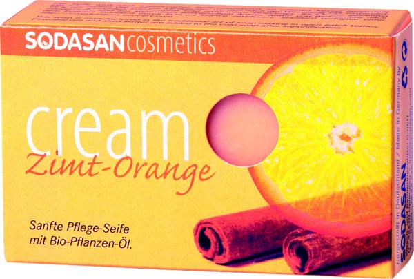 Sodasan Крем-мыло туалетное Корица-апельсин, глицериновое, 100 г косметика для мамы sodasan мыло крем туалетное твердое глицериновое корица апельсин 100 г