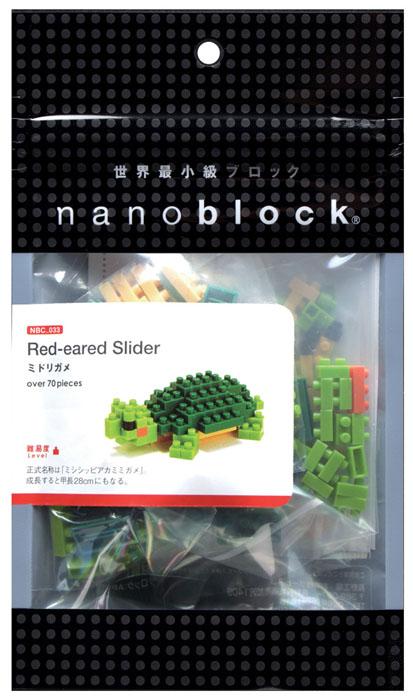 Nanoblock Мини-конструктор Красноухая черепаха