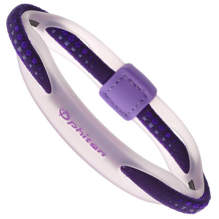 Браслет на руку Phiten Rakuwa Bracelet X50 Hybrid, цвет: фиолетовый, 17 смTF360252Браслет на руку Phiten Rakuwa Bracelet X50 Hybrid представляет собой комбинацию текстильных и силиконовых элементов, которые гармонично сочетаются в его современном дизайне. Жизнерадостная расцветка придется по вкусу всем, кто любит спортивный стиль и активный образ жизни. Модель содержит AquaTitan.Браслет способствует улучшению циркуляции крови в организме, уменьшению усталости, а также расслаблению и восстановлению сил. Характеристики:Материал: 100% нейлон, акватитан, 100% силикон, титан-силика. Обхват браслета: 17 см. Ширина браслета: 0,6 см. Цвет: фиолетовый. Размер упаковки: 6 см x 15 см x 2,5 см. Изготовитель: Япония. Артикул: TG497125.