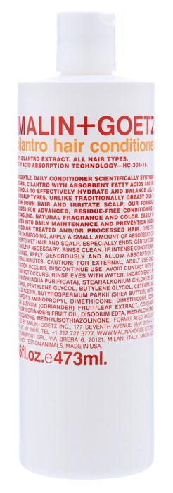 Malin+Goetz Кондиционер Кориандр, для всех типов волос, 473 млAC-2233_серыйМягкий кондиционер Malin+Goetz Кориандр подходит для ежедневного использования содержит экстракт кориандра, питательные жирные кислоты и жирные спирты. Инновационная формула ухаживает за волосами, не оседает на волосах, бережно распутывает, увлажняет и поддерживает баланс всех типов волос и кожи головы, не вызывая утяжеления волос и раздражения кожи. Является отличным дополнением к ежедневному уходу за окрашенными и химически обработанными волосами. Не содержит хлорид натрия и подходит для химически выпрямленных волос. Имеет натуральный аромат и цвет. Характеристики:Объем: 473 мл. Производитель: США. Товар сертифицирован.