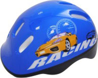 Шлем защитный Action Racing, цвет: синий. Размер XS (48/51)WRA523700Шлем Action Racing послужит отличной защитой для ребенка во время катания на роликах или велосипеде.Он выполнен из плотного вспененного пенопласта, покрытого пластиковой пленкой и отлично сидит на голове, благодаря мягким вставкам на внутренней стороне. Шлем снабжен системой вентиляции, и крепится при помощи удобного регулируемого ремня с пластиковым карабином, застегивающегося на подбородке.Оформлен он изображением машины. Характеристики:Материал: пластик, пенопласт, текстиль, поролон. Обхват шлема в лобовой части: 55 см. Размер шлема: 25 см х 19 см х 13 см. Размер упаковки: 26 см х 20 см х 13 см. Артикул: PWH-2.