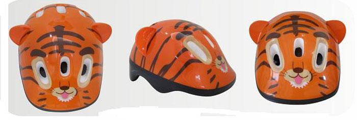 Шлем защитный Action Тигренок, цвет: оранжевый. Размер XS (48/51)PWH-4Шлем Action Тигренок послужит отличной защитой для ребенка во время катания на роликах или велосипеде.Он выполнен из плотного вспененного пенопласта, покрытого пластиковой пленкой и отлично сидит на голове, благодаря мягким вставкам на внутренней стороне. Шлем снабжен системой вентиляции и крепится при помощи удобного регулируемого ремня с пластиковым карабином, застегивающимся на подбородке.Оформлен он изображениями тигра. Характеристики:Материал: пластик, пенопласт, текстиль, поролон. Обхват шлема в лобовой части: 55 см. Размер шлема: 25 см х 19 см х 13 см. Размер упаковки: 26 см х 20 см х 13 см. Артикул: PWH-4.