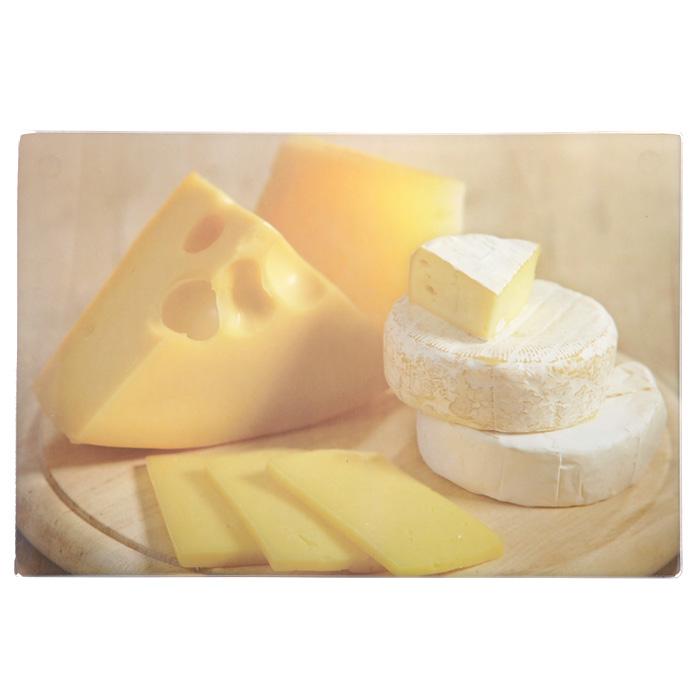 Доска разделочная Gotoff Сыр стеклянная, 20 х 30см WTC20322109/7Разделочная доска Gotoff Сыр, выполненная из стекла, станет незаменимым атрибутом приготовления пищи. Доска оформлена изображением различных сортов сыра. Доска устойчива к повреждениям и не впитывает запахи. Резиновые ножки не скользят по столу, придавая доске устойчивость. Доску можно использовать как подставку под горячее, так как она выдерживает температуру до 260°C.Гигиенична и проста в уходе. Доска моется с использованием обычных моющих средств или в посудомоечной машине. Главное преимущество стеклянной разделочной доски - дизайн. На стеклянных досках фантазия художников рождает целые шедевры: репродукции картин, натюрморты, пейзажи. Такое разнообразие в дизайне позволяет подобрать подходящую доску для любого интерьера. Стеклянную доску можно также использовать и для сервировки стола, это делает ее весьма привлекательной для рестораторов. Характеристики:Материал: стекло, резина. Размер разделочной доски: 20 см х 30 см х 0,4 см. Размер упаковки: 20 см х 30 см х 1 см. Артикул: WTC20322.