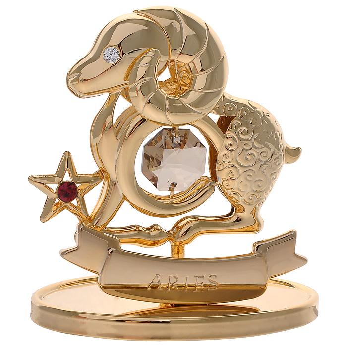 Фигурка декоративная Знак зодиака Овен, цвет: золотистыйil-32Декоративная фигурка Знак зодиака Овен, золотистого цвета, станет необычным аксессуаром для вашего интерьера и создаст незабываемую атмосферу. Кристаллы, украшающие фигурку, носят громкое имяSwarovski. Ограненные, как бриллианты, кристаллы блистают сотнями тысяч различных оттенков.Эта очаровательная вещь послужит отличным подарком близкому человеку, родственнику или другу, а также подарит приятные мгновения и окунет вас в лучшие воспоминания.Фигурка упакована в подарочную коробку. Характеристики:Материал: металл (углеродистая сталь, покрытие золотом 0,05 микрон), австрийские кристаллы. Размер фигурки: 6,3 см х 7,5 см х 3,2 см. Цвет: золотистый. Размер упаковки: 9,5 см х 11,5 см х 4,5 см. Артикул: 67228. Более чем 30 лет назад компанияCrystocraftвыросла из ведущего производителя в перспективную торговую марку, которая задает тенденцию благодаря безупречному чувству красоты и стиля. Компания создает изящные, качественные, яркие сувениры, декорированные кристалламиSwarovskiразличных размеров и оттенков, сочетающие в себе превосходное мастерство обработки металлов и самое высокое качество кристаллов. Каждое изделие оформлено в индивидуальной подарочной упаковке, что придает ему завершенный и презентабельный вид.