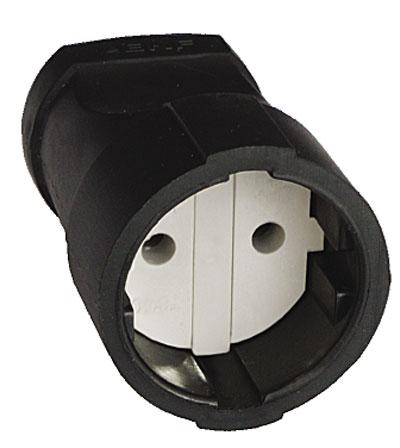 Штепсельное гнездо UNIVersal с заземлением, цвет: черный. 833141153320417Штепсельное гнездо UNIVersal применяется для изготовления или ремонта сетевых удлинителей, позволяет быстро скоммутировать удаленный источник питания напряжением до 250 Вт, мощностью подключаемой нагрузки до 3500 Вт, 16 А. Характеристики: Материал: ABS пластик. Размеры гнезда: 7 см x 4,5 см x 4,5 см. Размер упаковки: 15,5 см x 9 см x 5 см.