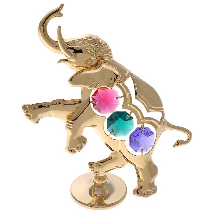 Фигурка декоративная Слоник, цвет: золотистыйil-34Декоративная фигурка Слоник, золотистого цвета, станет необычным аксессуаром для вашего интерьера и создаст незабываемую атмосферу. Фигурка выполнена в виде слона на подставке и инкрустирована разноцветными кристаллами. Кристаллы, украшающие фигурку, носят громкое имяSwarovski. Ограненные, как бриллианты, кристаллы блистают сотнями тысяч различных оттенков.Эта очаровательная фигурка послужит отличным функциональным подарком, а также подарит приятные мгновения и окунет вас в лучшие воспоминания.Фигурка упакована в подарочную коробку. Характеристики:Материал: металл (углеродистая сталь, покрытие золотом 0,05 микрон), австрийские кристаллы, стекло. Размер фигурки: 8,5 см х 9,5 см х 3 см.Цвет: золотистый. Размер упаковки: 7,5 см х 10 см х 5 см. Артикул: 67627. Более чем 30 лет назад компанияCrystocraftвыросла из ведущего производителя в перспективную торговую марку, которая задает тенденцию благодаря безупречному чувству красоты и стиля. Компания создает изящные, качественные, яркие сувениры, декорированные кристалламиSwarovski различных размеров и оттенков, сочетающие в себе превосходное мастерство обработки металлов и самое высокое качество кристаллов. Каждое изделие оформлено в индивидуальной подарочной упаковке, что придает ему завершенный и презентабельный вид.