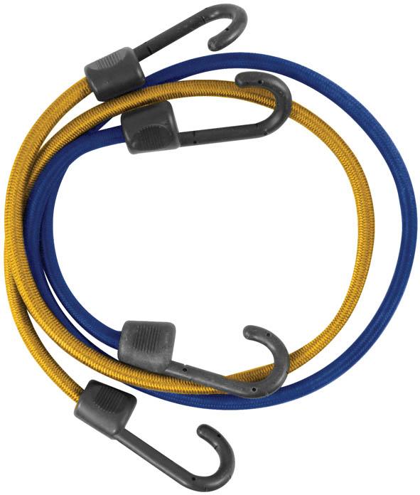Ремень багажный FIT, 2 шт, 8 мм х 800 мм. 6489664896Багажный ремень FIT используется для фиксации грузов при транспортировке. Выполнен из специального латекса с синтетической оплеткой, которая обеспечивает высокую надежность и долговечность шнура. Крюки изготовлены из прочного пластика. Шнур выдерживает высокие нагрузки. Характеристики:Материал. латекст, пластик. Размер: 8 мм х 800 мм. Размер упаковки: 23 см х 11 см х 4 см.