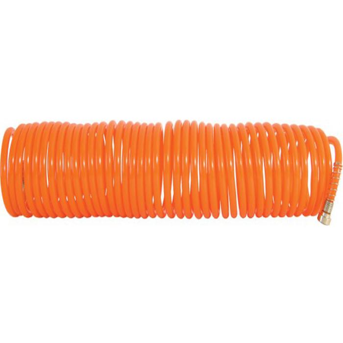 Шланг-удлинитель FIT, 15 м. 8110581105Витой шланг-удлинитель FIT применяется для подачи воздуха к пневматическому инструменту. Изготовлен из полиуретана, отличается прочностью и удобством эксплуатации. Имеет коннектор с типом соединения байонет. Спиральное исполнение предотвращает перегибы и увеличивает удобство при использовании и хранении. Характеристики:Материал:латунь, сталь, пластик. Длина шланга:15 м. Диаметр шланга:0,7 см. Размер шланга:15 м x 0,7 см x 0,7 см. Размер упаковки:47,5 см x 8 см x 8 см.