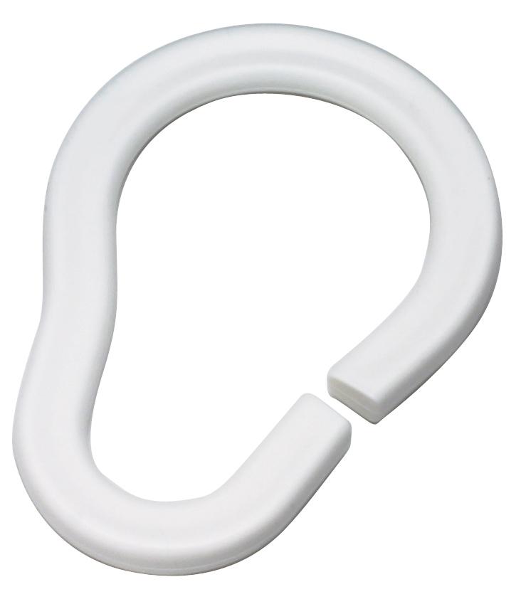 Набор колец Duschy для шторок ванной комнаты, 12 шт, цвет: белый. 681-1098299571Набор колец Duschy для шторок ванной комнаты выполнен из белого пластика. Кольца подходят ко всем шторкам для ванной, удобны в использовании, имеют практичную систему застежки. Легкие и надежные в эксплуатации. Прекрасно сочетаться с любым дизайном шторок. Характеристики: Материал: пластик. Диаметр кольца: 4 см. Комплектация: 12 шт. Размер упаковки: 15 см х 10 см х 5 см.