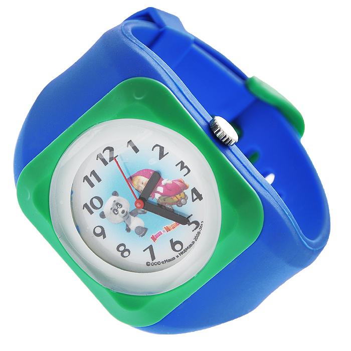 Zakazat.ru: Часы наручные Маша и медведь, кварцевые, цвет: синий, зеленый
