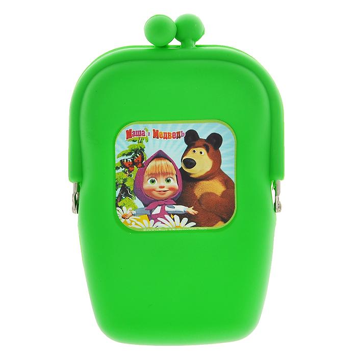 Маша и Медведь Косметичка цвет зеленый392678Косметичка Маша и медведь, выполненная из мягкого силикона зеленого цвета, придется по душе вашей маленькой моднице. Косметичка состоит из одного отделения, закрывающегося на защелку. Лицевая сторона косметички оформлена изображением Маши и мишки - любимых героев популярного мультсериала Маша и медведь. В такой косметичке будет удобно хранить косметические принадлежности или разные мелочи. Характеристики:Материал: силикон, металл. Размер косметички: 10 см х 15 см х 3 см. Изготовитель: Китай.