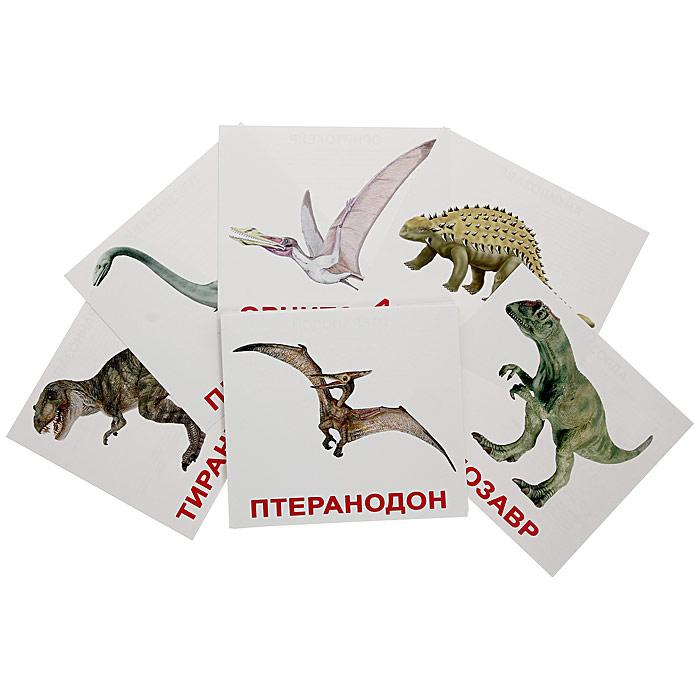 """Набор обучающих карточек """"Динозавры"""" включает в себя 20 карточек и предназначен для занятий с детьми. На лицевой стороне карточки изображен динозавр и написано его название. На оборотной стороне написаны факты и задания. Взрослый в течение 1-2 секунд показывает ребенку карточку с изображением и четко произносит его название. Просмотр карточек позволяет развить у ребенка интеллект и фотографическую память, что в дальнейшем значительно повысит его способности к обучению. Постепенно можно будет предложить малышу выполнить задания, указанные в карточках."""