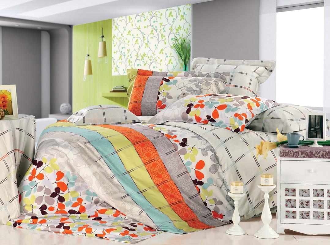 Комплект белья Tiffanys Secret Осенний блюз (2-х спальный КПБ, сатин, наволочки 50х70)