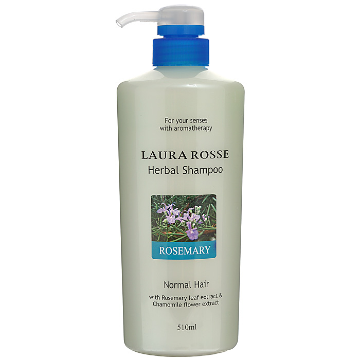 Laura Rosse Растительный шампунь Розмарин, для нормальных волос, 510 млММ1Душистый растительный шампунь Laura Rosse прекрасно очищает волосы, насыщает их влагой, делает мягкими и послушными. Богатый состав средства, включающий растительные и питательные компоненты, поможет восстановить естественную жизненную силу ваших волос. Шампунь содержит экстракты ромашки, розмарина, шалфея, лаванды, а также гидролизированный шелк, который увлажняет, укрепляет и защищает волосы.Подходит для нормальных волос.Обладает приятным ароматом розмарина. Характеристики:Объем: 510 мл. Артикул: 410773. Производитель: Корея. Товар сертифицирован.