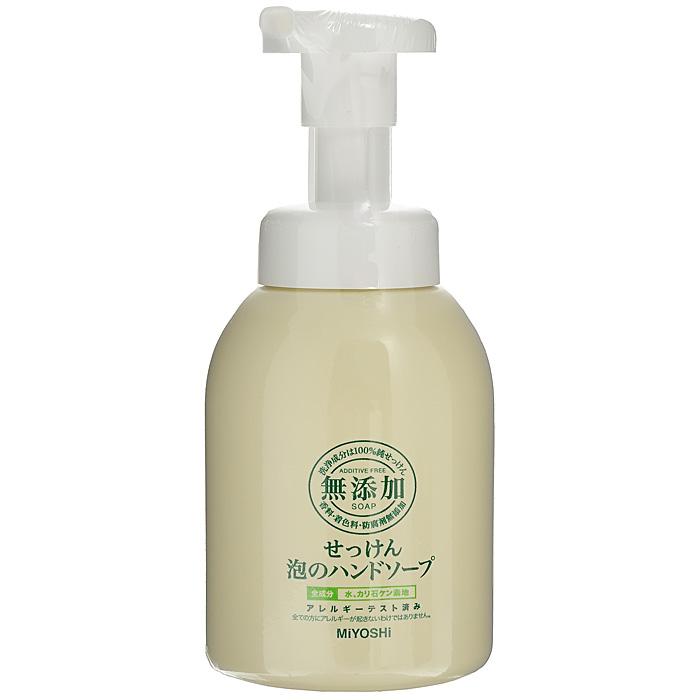 Miyoshi Пенящееся жидкое мыло для рук, на основе натуральных компонентов, 250 млSatin Hair 7 BR730MNМыло Miyoshi образует мягкую пену,которая выходит сразу, даже при легком нажании. Безопасно в использовании, так как в составе мыльной основы только натуральные жиры. Рекомендуется для всей семьи, в том числе и детей.За счет отсутствия антибактериальных компонентов рекомендуется для людей с чувствительной кожей, а также кожей, склонной к шелушению. Характеристики:Объем: 250 мл. Артикул: 100677. Производитель: Япония. Товар сертифицирован.