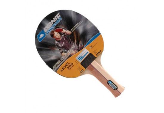 Ракетка для настольного тенниса Donic-Schildkrot Appelgren 200Хот ШейперсРакетка Donic-Schildkrot Appelgren 200 предназначена для игры в настольный теннис для любителей и игроков начального уровня. Ракетка выполнена из дерева, накладка из резины. Имеет пятислойное основание. Характеристики:Материал: дерево, каучук.Размер ракетки: 15 см х 26 см.Толщина губки: 1 мм.Длина ручки: 10 см.Размер упаковки: 26 см х 15 см х 2 см.Артикул: 703009.Производитель: Китай