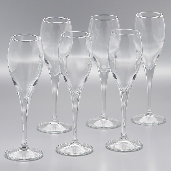 Набор фужеров Monte Carlo, 131 мл, 6 штVT-1520(SR)Набор Lyric, состоящий из шести фужеров на высокой ножке, изготовленых из прочного высококачественного прозрачного стекла, несомненно, придется вам по душе. Фужеры предназначены для подачи шампанского. Фужеры сочетают в себе элегантный дизайн и функциональность. Благодаря такому набору пить напитки будет еще вкуснее.Набор фужеров Lyric идеально подойдет для сервировки стола и станет отличным подарком к любому празднику. Характеристики:Материал: стекло. Диаметр фужера по верхнему краю:4,5 см. Высота фужера:19 см. Диаметр основания фужера:6 см. Объем фужера:131 мл. Комплектация:6 шт. Размер упаковки (Д х Ш х В):20 см х 13 см х 20 см. Производитель:Турция. Артикул:440086.