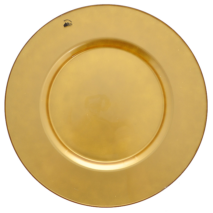 Блюдо Arte, цвет: золотистый, диаметр 35 см115510Круглое блюдо Arte изготовлено из высококачественного стекла золотистого цвета. Такое блюдо послужит интересным украшением интерьера вашего дома и подчеркнет прекрасный вкус хозяина. Блюдо можно преподнести в качестве оригинального подарка. Характеристики:Материал: натрий-кальций-силикатное стекло. Диаметр блюда: 35 см. Цвет: золотистый. Размер упаковки: 35,5 см х 35,5 см х 2 см. Артикул: 54253GL.
