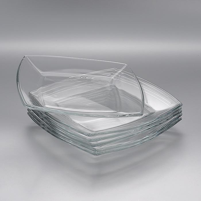 Набор тарелок Tokio, 19,5 х 19,5 см, 6 штVT-1520(SR)Набор Tokio, выполненный из высококачественного стекла, состоит из шести тарелок квадратной формы, предназначенных для красивой сервировки различных блюд. Изделия, несомненно, понравятся как любителям классики, так и тем, кто предпочитает изысканный стиль.Набор тарелок Tokio великолепно украсит ваш стол и послужит отличным подарком к любому празднику. Характеристики: Материал: натрий-кальций-силикатное стекло. Размер тарелки: 19,5 см x 19,5 см х 2 см. Размер упаковки: 20 см x 20 см х 7,5 см. Изготовитель: Россия. Артикул: 54077B.