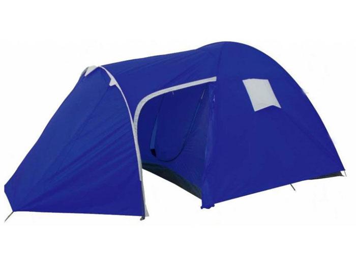 """Фото Палатка четырехместная Columbus """"Copenhagen Pro"""" двухслойная, цвет:синий. Покупайте с доставкой по России"""