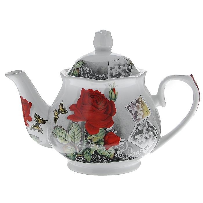Чайник заварочный Бабочка на розе, 1 лVT-1520(SR)Заварочный чайник Бабочка на розе изготовлен из высококачественного фарфора белого цвета. Он имеет изящную форму и декорирован красочным рисунком. Чайник сочетает в себе изысканный дизайн с максимальной функциональностью. Красочность оформления придется по вкусу и ценителям классики, и тем, кто предпочитает утонченность и изысканность. Характеристики:Материал: фарфор. Объем чайника:1 л. Размер чайника (без крышки) (Д х Ш х В):23 см х 14 см х 12 см. Размер упаковки (Д х Ш х В):20 см х 14 см х 14 см. Производитель:Китай. Артикул:529-092.