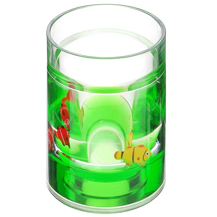 Стаканчик Рыбки, цвет: зеленый, желтый, красный850-55Стаканчик Рыбки, изготовленный из прозрачного пластика, отлично подойдет для вашей ванной комнаты. Внутри стакана зеленый гелиевый наполнитель с рыбками желтого и красного цветов.Стаканчик создаст особую атмосферу уюта и максимального комфорта в ванной. Характеристики: Материал: пластик, акрил, гелиевый наполнитель. Цвет: зеленый, желтый, красный. Диаметр стаканчика по верхнему краю: 7 см. Высота стаканчика: 10,5 см. Производитель: Швеция. Изготовитель: Китай. Размер упаковки: 8 см х 8 см х 11,5 см. Артикул: 850-55.