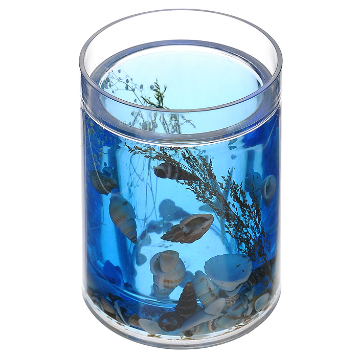 Стакан ЛагунаRG-D31SСтакан Лагуна, изготовленный из прозрачного пластика, отлично подойдет для вашей ванной комнаты. Внутри стакана синий гелиевый наполнитель с морской звездой, ракушками и веточками.Стакан создаст особую атмосферу уюта и максимального комфорта в ванной. Характеристики: Материал: пластик, акрил, гелиевый наполнитель. Цвет: синий, белый, черный. Диаметр стакана по верхнему краю: 7 см. Высота стакана: 10,5 см. Производитель: Швеция. Изготовитель: Китай. Размер упаковки: 8,5 см х 8,5 см х 12,5 см. Артикул: 336-01.