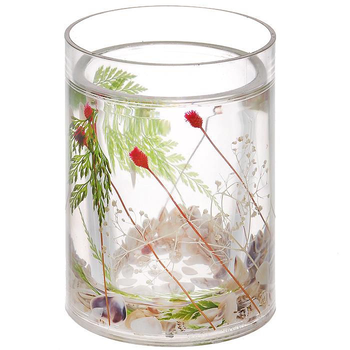 Стаканчик МакиBL505Стаканчик Маки, изготовленный из прозрачного пластика, отлично подойдет для вашей ванной комнаты. Внутри стакана прозрачный гелевый наполнитель с маленькими ракушками и веточками красного и зеленого цвета.Стаканчик создаст особую атмосферу уюта и максимального комфорта в ванной. Характеристики: Материал: пластик, акрил, гелевый наполнитель. Цвет: зеленый, белый, красный. Диаметр стаканчика по верхнему краю: 7,3 см. Высота стаканчика: 10,5 см. Производитель: Швеция. Изготовитель: Китай. Размер упаковки: 8,5 см х 8,5 см х 12,5 см. Артикул: 857-06.