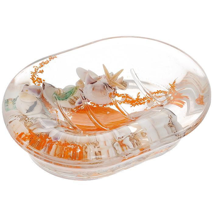 Мыльница Морское дно339-04Оригинальная мыльница Морское дно, изготовленная из прозрачного пластика, отлично подойдет для вашей ванной комнаты. Внутри мыльницы гелиевый наполнитель с морской звездой, ракушками и веточкой.Мыльница создаст особую атмосферу уюта и максимального комфорта в ванной. Характеристики: Материал: пластик, акрил, гелиевый наполнитель. Цвет: оранжевый, белый. Размер мыльницы: 13,5 см х 10 см х 3,5 см. Производитель: Швеция. Изготовитель: Китай. Размер упаковки: 14,5 см х 10,5 см х 4 см. Артикул: 339-04.