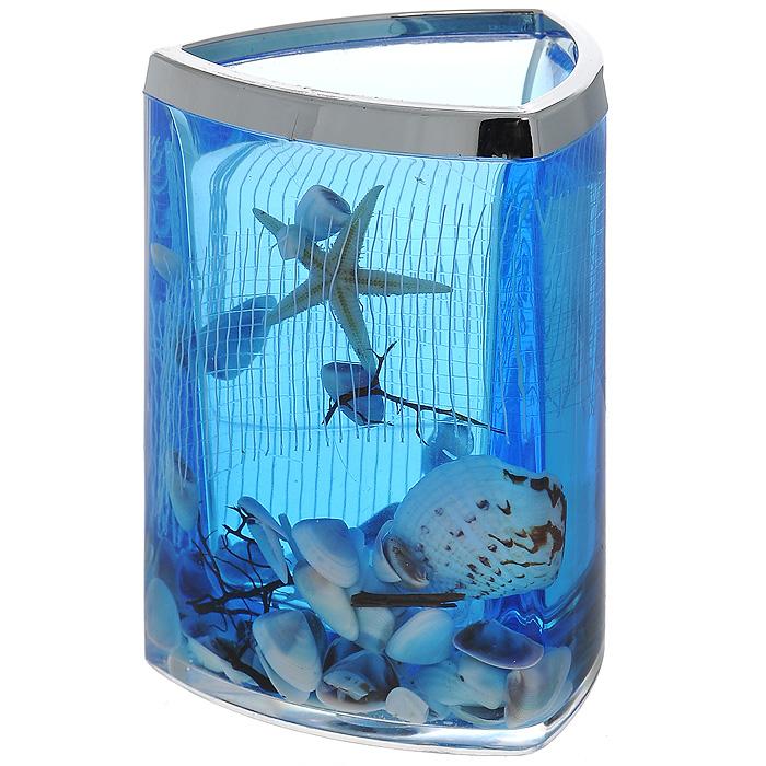 Стаканчик Seastar Blue1004900000360Стаканчик Seastar Blue, изготовленный из прозрачного пластика, отлично подойдет для вашей ванной комнаты. Стаканчик имеет двойные стенки, между которыми находится синий гелевый наполнитель с маленькими ракушками, морской звездой и белой сеткой.Стаканчик Seastar Blue создаст особую атмосферу уюта и максимального комфорта в ванной. Характеристики: Материал: пластик, акрил, гелевый наполнитель. Цвет: синий, белый, желтый. Размер стаканчика: 7,5 см х 7,5 см х 11 см. Производитель: Швеция. Изготовитель: Китай. Размер упаковки: 8 см х 8 см х 11,5 см. Артикул: 857-37.