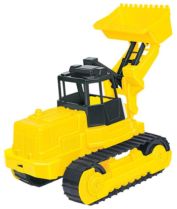 """Гусеничный трактор-погрузчик """"Полесье"""", выполненный из прочного материала, отлично подойдет ребенку для различных игр. Трактор оснащен большим ковшом, с помощью которого можно перемещать материалы (камушки, песок, веточки и др.), убирать строительный мусор или расчищать площадку. В просторную незастекленную кабину машины легко поместится минифигурка водителя. Трактор снабжен гусеничным механизмом со свободным ходом, что обеспечивает игрушке устойчивость и хорошую проходимость. С этим реалистично выполненным трактором-погрузчиком ваш малыш часами будет занят игрой."""