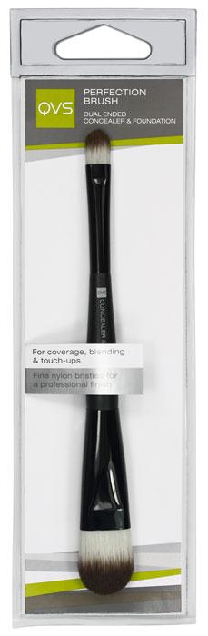 QVS Кисть для тональной основы макияжа и консилера. 10-11046003006Ваша кожа будет выглядеть безупречно с помощью многоцелевой кисти QVS для макияжа. Двусторонняя кисть для основы макияжа и консилера идеально подходит для смешивания и нанесения тональной основы, а также для нанесения завершающих штрихов и маскировки дефектов кожи. Кончики кисти изготовлены из тонких нейлоновых волокон для профессионального нанесения жидких и кремообразных косметических средств. Характеристики:Материал: пластик, щетина. Длина кисти: 17,5 см.Артикул: 10-1104. Производитель: Австралия. Товар сертифицирован.