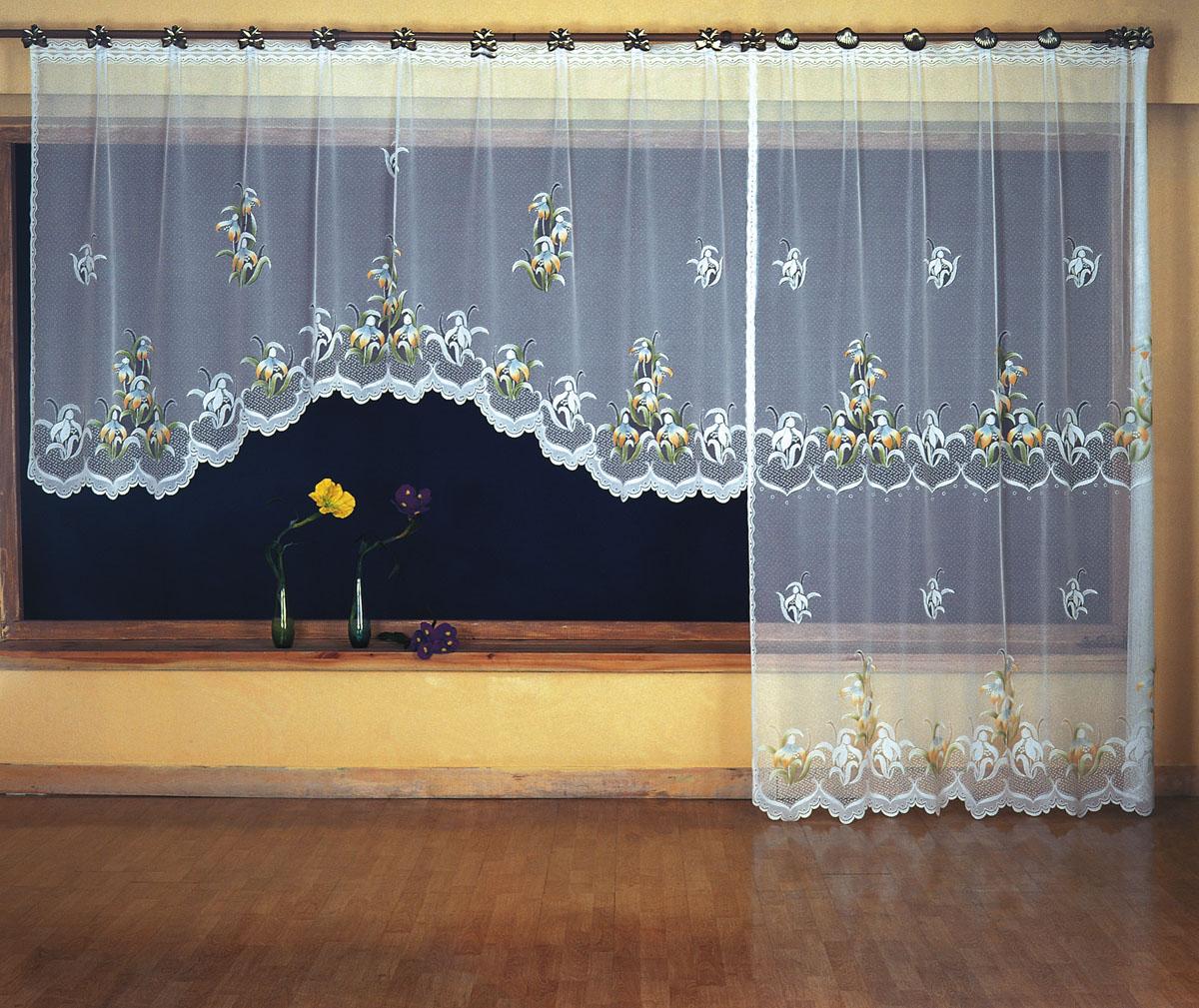 Комплект гардин для балкона Wisan, цвет: белый, высота 250 см