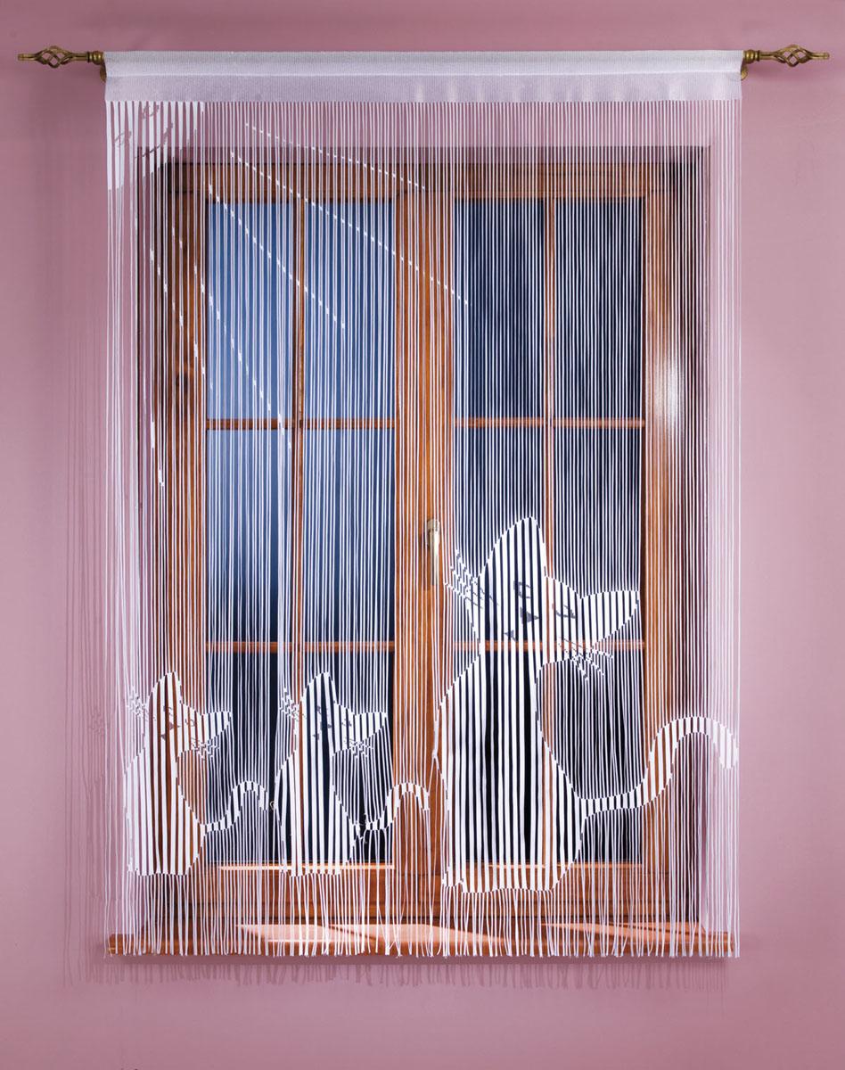 Гардина-лапша Koty, на кулиске, цвет: белый, высота 160 смSVC-300Гардина-лапша Koty, изготовленная из полиэстера белого цвета, станет великолепным украшением окна, дверного проема и прекрасно послужит для разграничения пространства. Гардина оформлена мелкой бахромой и изображением котят. Необычный дизайн и яркое оформление привлекут внимание и органично впишутся в интерьер. Гардина-лапша оснащена кулиской для крепления на круглый карниз. Характеристики:Материал: 100% полиэстер. Цвет: белый. Высота кулиски: 5,5 см. Размер упаковки:27 см х 37 см х 3 см. Артикул: 666980.В комплект входит: Гардина-лапша - 1 шт. Размер (ШхВ): 150 см х 160 см. Фирма Wisan на польском рынке существует уже более пятидесяти лет и является одной из лучших польских фабрик по производству штор и тканей. Ассортимент фирмы представлен готовыми комплектами штор для гостиной, детской, кухни, а также текстилем для кухни (скатерти, салфетки, дорожки, кухонные занавески). Модельный ряд отличает оригинальный дизайн, высокое качество. Ассортимент продукции постоянно пополняется.
