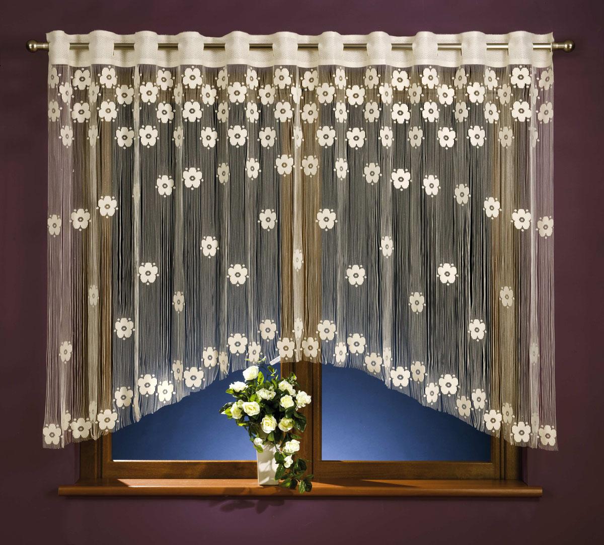 Гардина-лапша Maja, на петлях, цвет: белый, высота 160 смС 4172 - W260 V25Легкая гардина-лапша Maja, изготовленная из полиэстера белого цвета, станет великолепным украшением любого окна. Тонкое плетение, оригинальный дизайн привлекут к себе внимание и органично впишутся в интерьер комнаты. Гардина-лапша оснащена петлями для крепления на круглый карниз. Характеристики:Материал: 100% полиэстер. Цвет: белый. Высота петли: 5,5 см. Размер упаковки:27 см х 36 см х 4 см. Артикул: 676040.В комплект входит: Гардина-лапша - 1 шт. Размер (ШхВ): 270 см х 160 см. Фирма Wisan на польском рынке существует уже более пятидесяти лет и является одной из лучших польских фабрик по производству штор и тканей. Ассортимент фирмы представлен готовыми комплектами штор для гостиной, детской, кухни, а также текстилем для кухни (скатерти, салфетки, дорожки, кухонные занавески). Модельный ряд отличает оригинальный дизайн, высокое качество.Ассортимент продукции постоянно пополняется.УВАЖАЕМЫЕ КЛИЕНТЫ!Обращаем ваше внимание на цвет изделия. Цветовой вариант гардины, данной в интерьере, служит для визуального восприятия товара. Цветовая гамма данной гардины представлена на отдельном изображении фрагментом ткани.