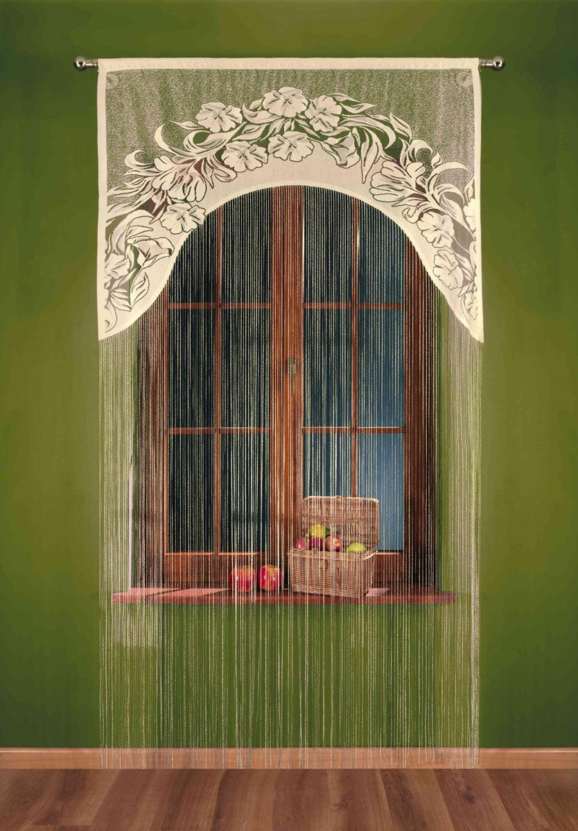 Гардина-лапша Sawa, на кулиске, цвет: бежево-черный, высота 250 смS03301004Воздушная гардина-лапша Sawa, изготовленная из прочного полиэстера, станет великолепным украшением любого окна. Гардина-лапша отличается от других видов гардин тем, что имеет основание, на которое крепится бахрома. Это отличное решение как для гардины на окно, так и для портьеры в дверной проем или просто занавески для разграничения пространства в комнате. Гардина-лапша оснащена кулиской для крепления на круглый карниз. Характеристики:Материал: 100% полиэстер. Цвет: бежево-черный. Высота кулиски: 5,5 см. Размер упаковки:26 см х 2 см х 36 см. Артикул: 693245.В комплект входит:Гардина-лапша - 1 шт. Размер (ШхВ): 120 см х 250 см. Фирма Wisan на польском рынке существует уже более пятидесяти лет и является одной из лучших польских фабрик по производству штор и тканей. Ассортимент фирмы представлен готовыми комплектами штор для гостиной, детской, кухни, а также текстилем для кухни (скатерти, салфетки, дорожки, кухонные занавески). Модельный ряд отличает оригинальный дизайн, высокое качество. Ассортимент продукции постоянно пополняется.УВАЖАЕМЫЕ КЛИЕНТЫ!Обращаем ваше внимание на цвет изделия. Цветовой вариант гардины-лапши, данной в интерьере, служит для визуального восприятия товара. Цветовая гамма данной гардины-лапши представлена на отдельном изображении фрагментом ткани.